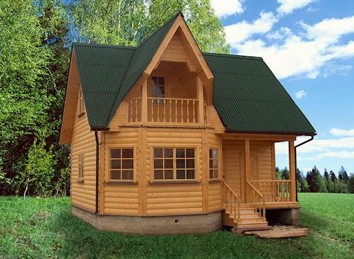 Дачный дом из бруса с вентилируемым фасадом