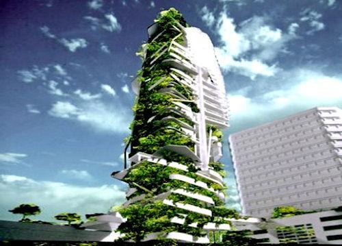 Экологичный небоскреб в Индии