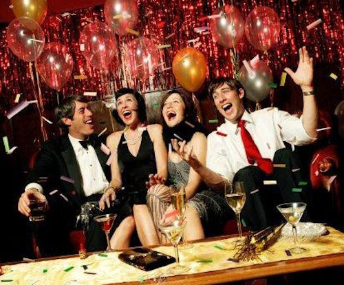 Новый год в кафе