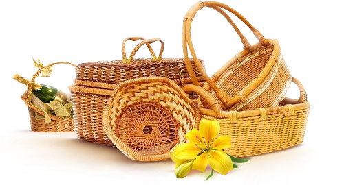 Плетеные подарочные корзины