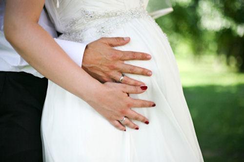 Свадебный наряд для дам в прекрасном положении