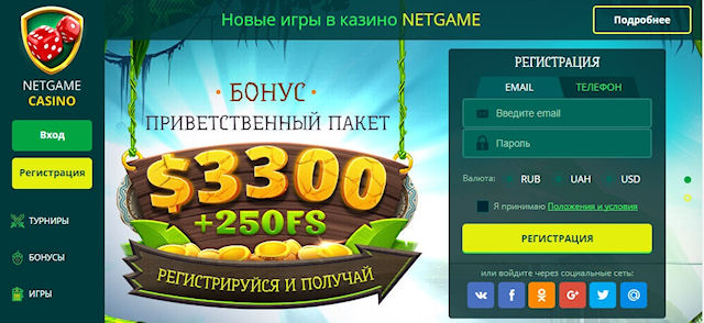 О казино NetGame